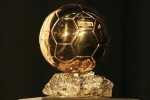 The 2009 Ballon d'Or trophy is seen in Paris