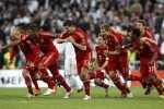 Bayern Munich's players react after the penalty shootout during their Champions League semi-final second leg soccer match against Real Madrid at Santiago Bernabeu stadium in Madrid