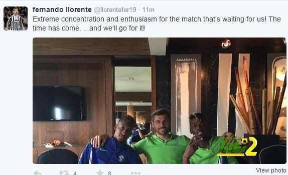 تغريدة لورينتي مواجهة ريال مدريد
