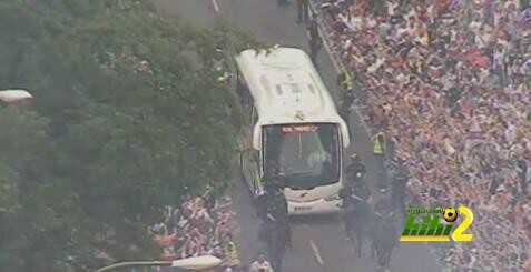وصول حافلة نجوم ريال مدريد