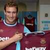 LONDON, ENGLAND - SEPTEMBER 01: (EXCLUSIVE COVERAGE) Nikica Jelavic poses after signing a two year deal for West Ham United at Boleyn Ground on September 1, 2015 in London, England.  (Photo by Arfa Griffiths/West Ham United via Getty Images)