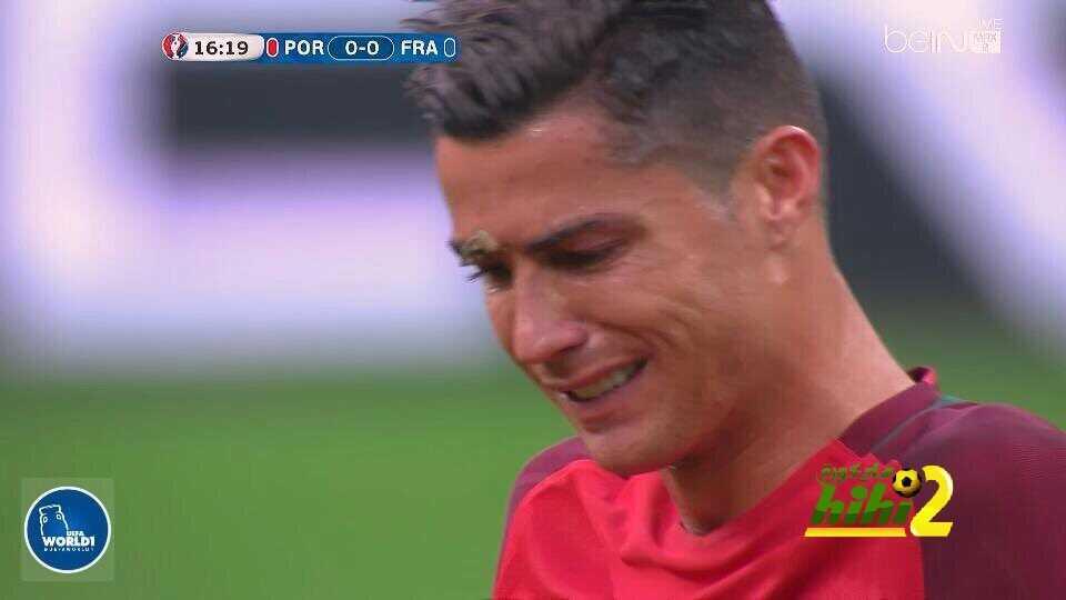 صور : دموع كريستيانو متأثرا بإصابته ..! coobra.net