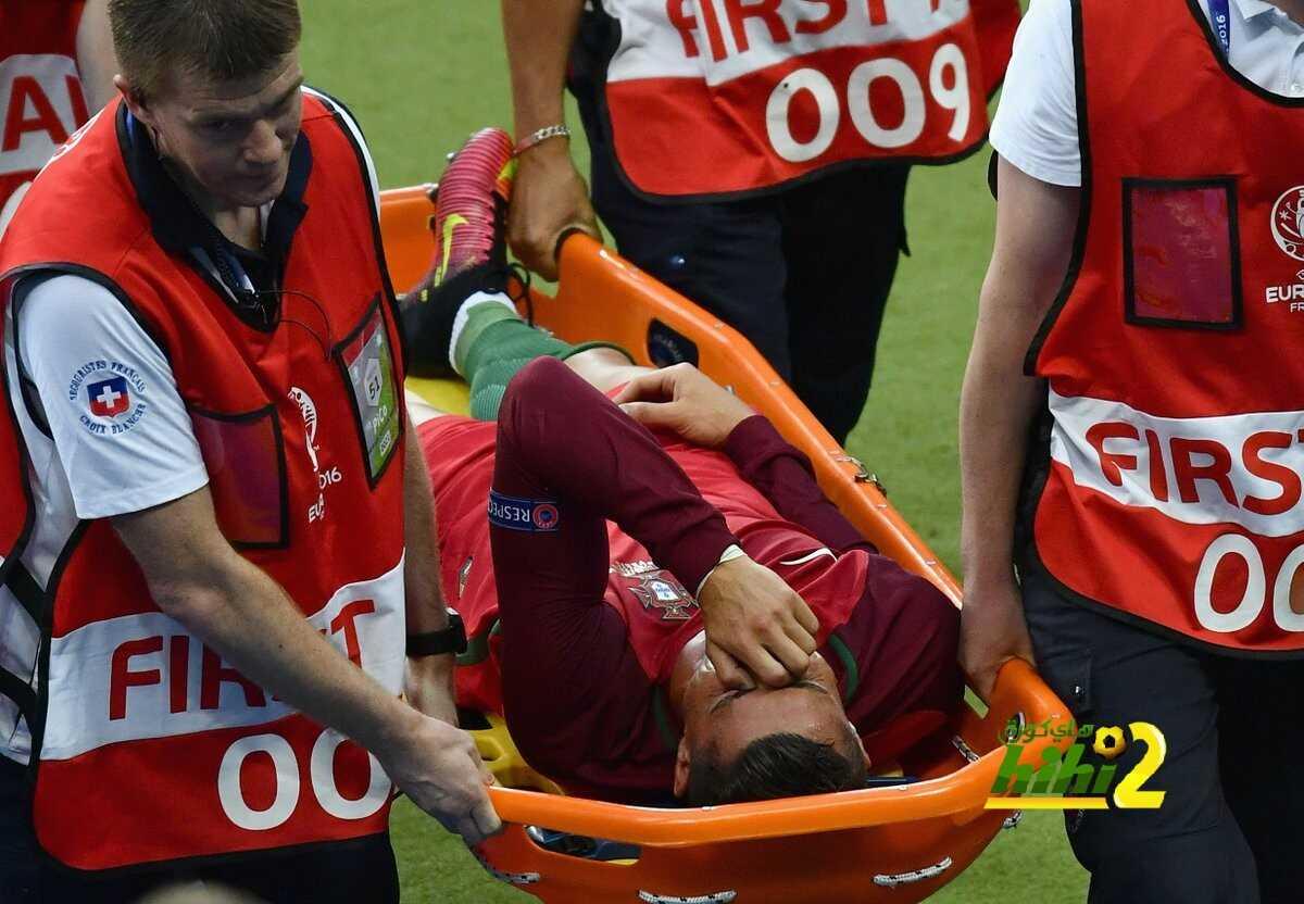 صورة : هكذا أصيب كريستيانو رونالدو ..! coobra.net