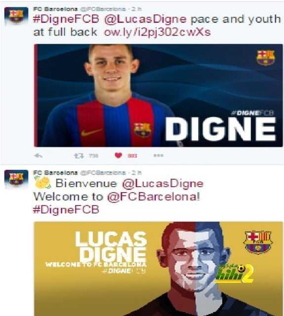 نادي برشلونة يرحب بلاعبه الجديد دين على مواقع التواصل الإجتماعي ! coobra.net