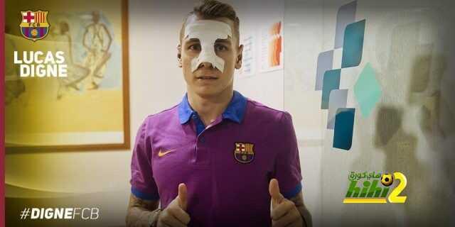 صورة : السبب وراء ظهور دين الأول بقميص برشلونة مع ضمادة الأنف .! coobra.net
