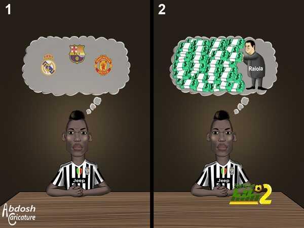 كاريكاتير هاي كورة ? كيف يفكر وكيل اعمال بوقبا coobra.net