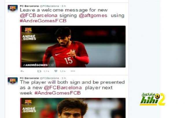 برشلونة ترحب بغوميز بشبكات التواصل الإجتماعي والتقديم نهاية الأسبوع القادم ! coobra.net