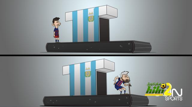 كاريكاتير الـ beINSPORTS حول تحول ميسي بسبب منتخب الآرجنتين coobra.net
