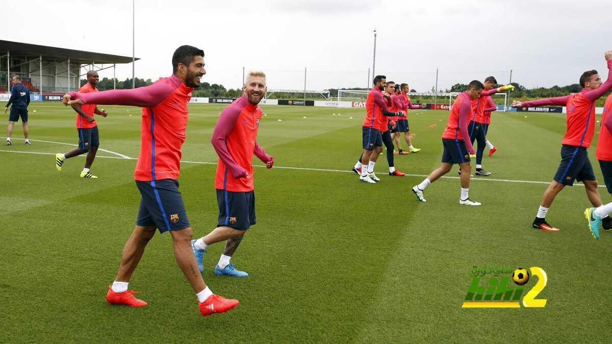 صور : أجواء رائعة في تدريبات برشلونة في انجلترا coobra.net