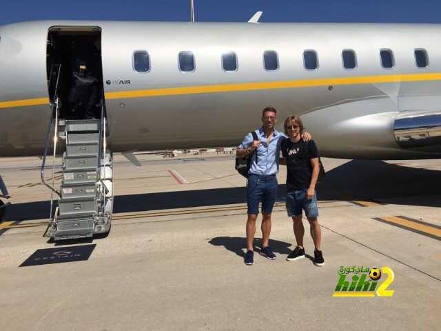 صورة : راموس ومودريتش في طريقهما للحاق بريال مدريد coobra.net