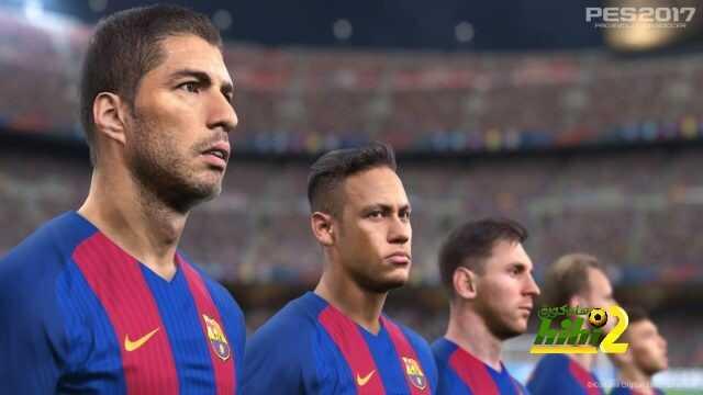 لاعبو برشلونة على غلاف لعبة pes 2017 coobra.net