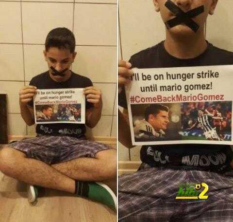 مشجع لبشيكتاش يضرب عن الطعام حتى يعود ماريو جوميز للفريق coobra.net