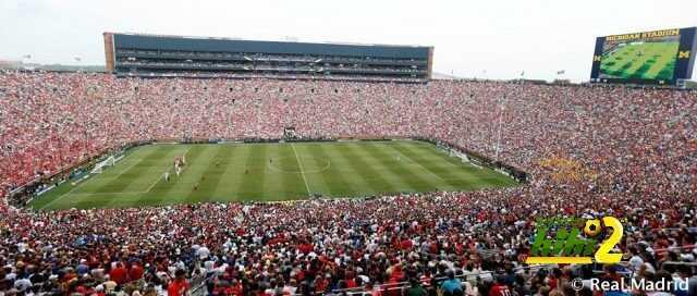 المباراة السابقة لريال مدريد بملعب ميشيغان شهدت حضور جماهيري تاريخي ! coobra.net
