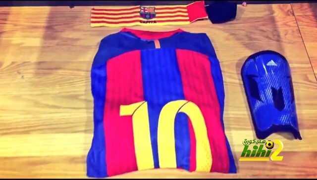 صورة من غرفة ملابس برشلونة في ملعب افيفا coobra.net