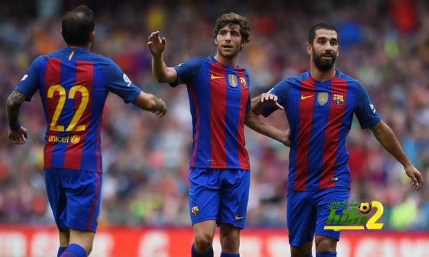 صور : فرحة توران بأول أهداف برشلونة في فترة الإعداد coobra.net