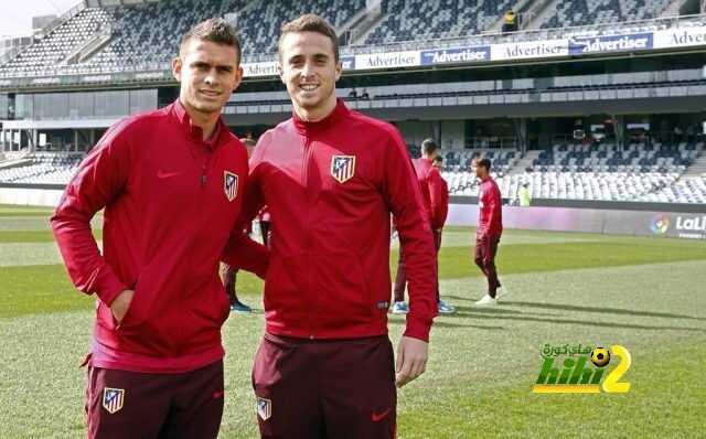 صورة : وصول اتليتكو مدريد لملعب سيموندز coobra.net
