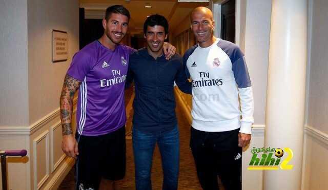 صور من زيارة راؤول لريال مدريد coobra.net