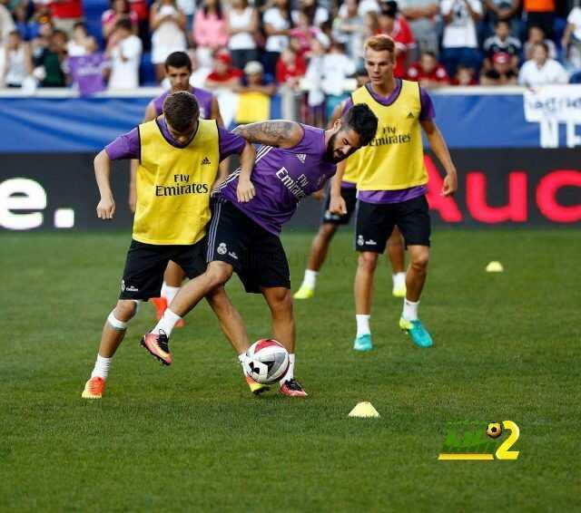 صور : أخر استعدادات ريال مدريد لمواجهة بايرن ميونيخ coobra.net