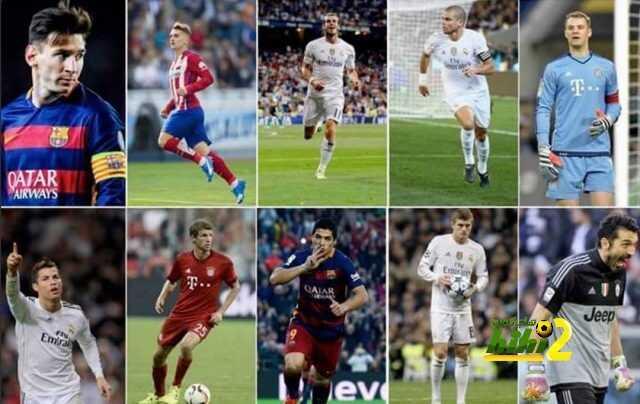 من تشمل القائمة النهائية لأفضل لاعب آوروبي ؟ coobra.net