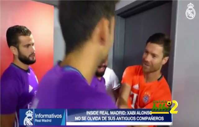 صور : ألونسو يستقبل لاعبي ريال مدريد بفرحة كبيرة ! coobra.net