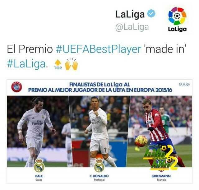جائزة أفضل لاعب آوروبي صنعت في الليجا coobra.net