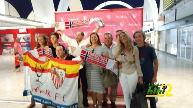 صور : الجالية الإسبانية بالنرويج تنتظر وصول إشبيلية للمطار ! coobra.net