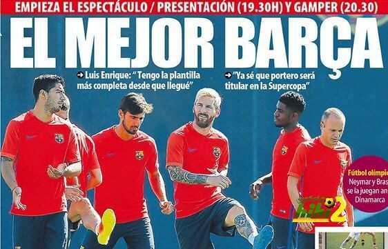 الصحف الكتالونية تعنون : أفضل برشلونة coobra.net
