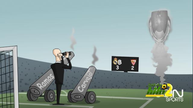 كاريكاتير الـ beINSPORTS حول تدمير الريال لمرمى إشبيلية coobra.net