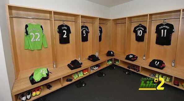 صور : غرفة ملابس ليفربول قبل مواجهة أرسنال coobra.net