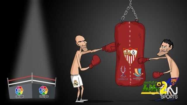 كاريكاتير الـ beINSPORTS حول الاتفاق بين برشلونة والريال على إشبيلية coobra.net