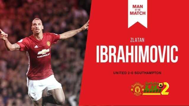 إبراهيموفيتش رجل مباراة مانشستر يونايتد وساوثهامتون coobra.net