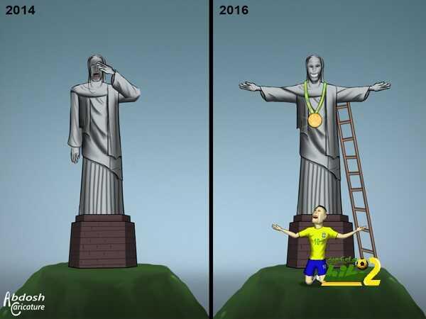 كاريكاتير هاي كورة ? نيمار يجلب الذهب coobra.net