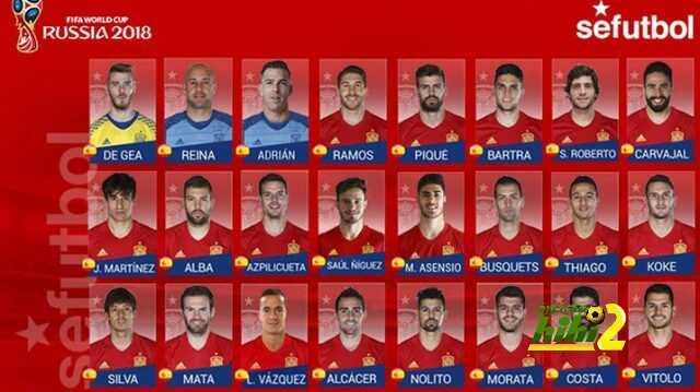 قائمة منتخب إسبانيا المستدعاة لتصفيات كأس العالم 2018 coobra.net