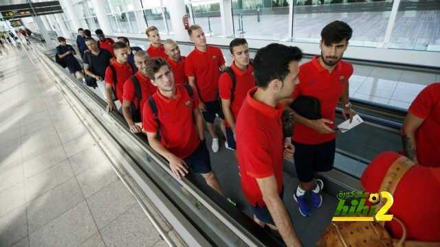 صورة : وصول برشلونة إلى بلباو coobra.net