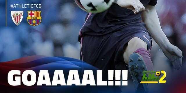 برشلونة ينهي الشوط الأول متقدما على نادي أتليتكو بيلباو ! coobra.net