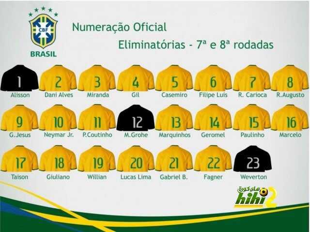 قائمة منتخب البرازيل لمواجهتي الإكوادور وكولومبيا coobra.net
