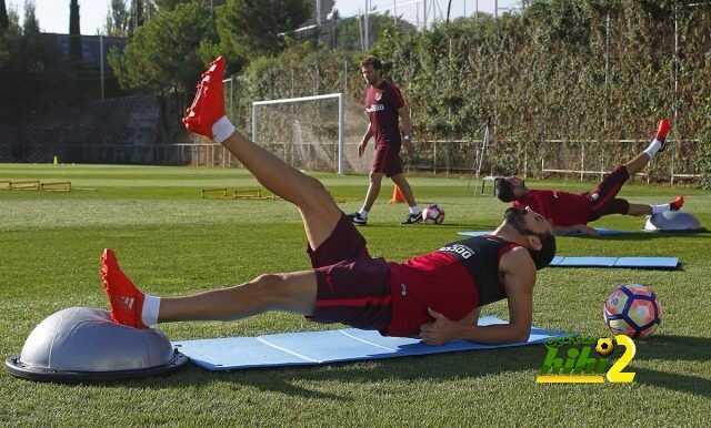 صور : اتتليتكو مدريد يواصل التدرب في غياب الدوليين coobra.net
