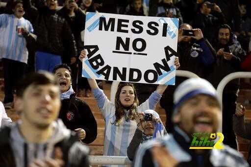 صور : جماهير الأرجنتين تشكر ميسي coobra.net