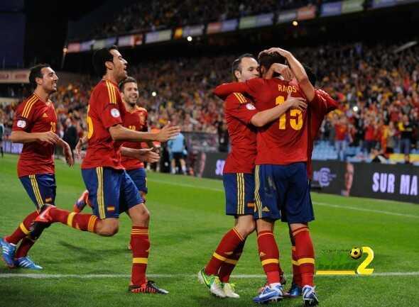 تشكيلة اسبانيا الرسمية لمباراة ليختنشتاين coobra.net