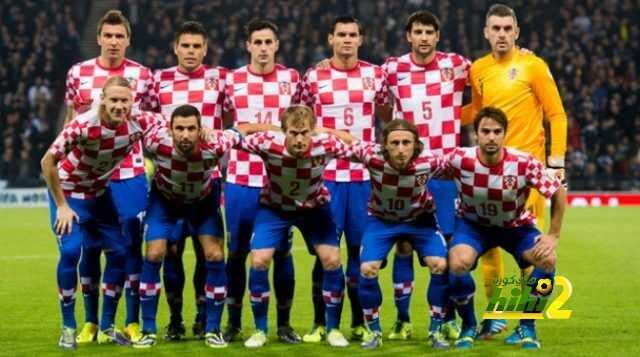 تشكيلة كرواتيا الرسمية لمباراة تركيا coobra.net