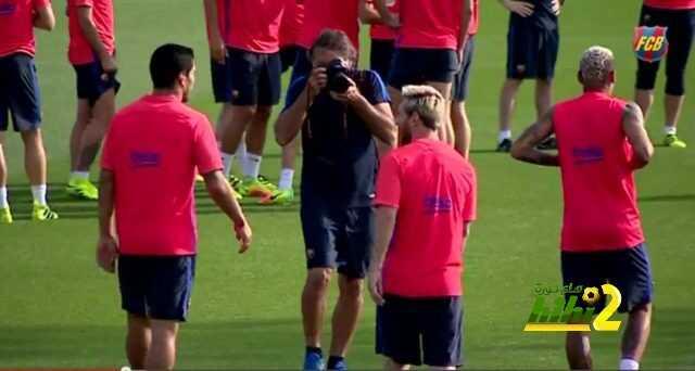 صور : أخر استعدادات برشلونة لمواجهة الافيس coobra.net