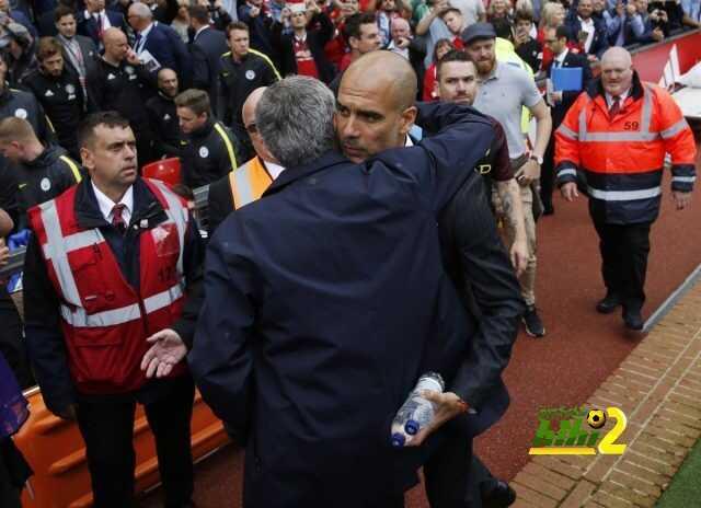 صورة : هل تكون بداية جديدة بين مورينيو وجوارديولا ؟ coobra.net