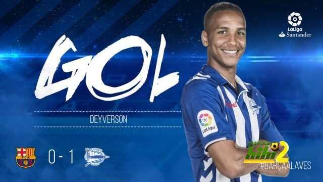 ديفيرسون يسجل هدف التقدم لألافيس ضد برشلونة ! coobra.net