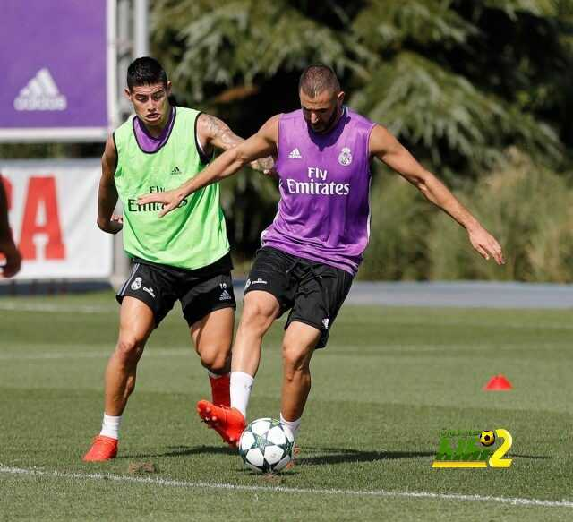 صور : استعدادات ريال مدريد لمواجهة سبورتنج لشبونة coobra.net