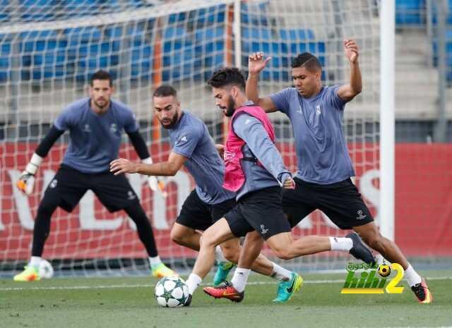 صور : ريال مدريد يختتم استعداداته لمواجهة سبورتنج لشبونة coobra.net