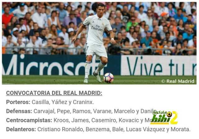 قائمة ريال مدريد لمواجهة سبورتنج لشبونة coobra.net