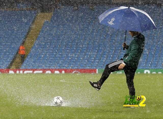 الامطار تؤجل مباراة مانشستر سيتي ومونشنجلادباخ coobra.net