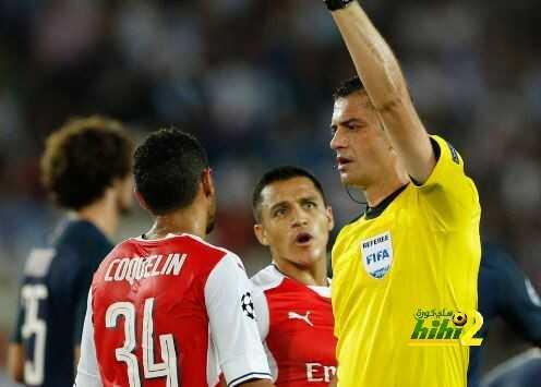 رقم سلبي لارسنال خلال الشوط الاول من مباراة باريس سان جيرمان coobra.net