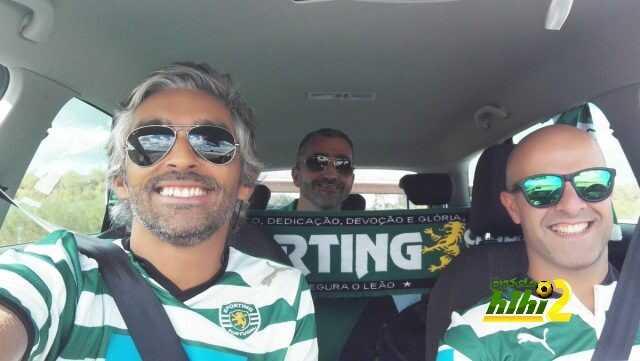 صورة : مشجعو سبورتنج لشبونة في طريقهم إلى مدريد coobra.net