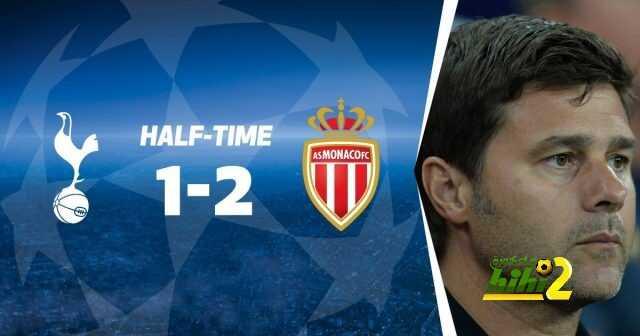 موناكو ينهي الشوط الأول متقدما ضد توتنهام بثنائية ! coobra.net